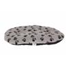 Leopet ovalna blazina Nettuno, siva s tačkami 70 x 50 cm