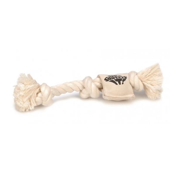 Beeztees igrača z vrvjo in piščalko, bela - 46 cm