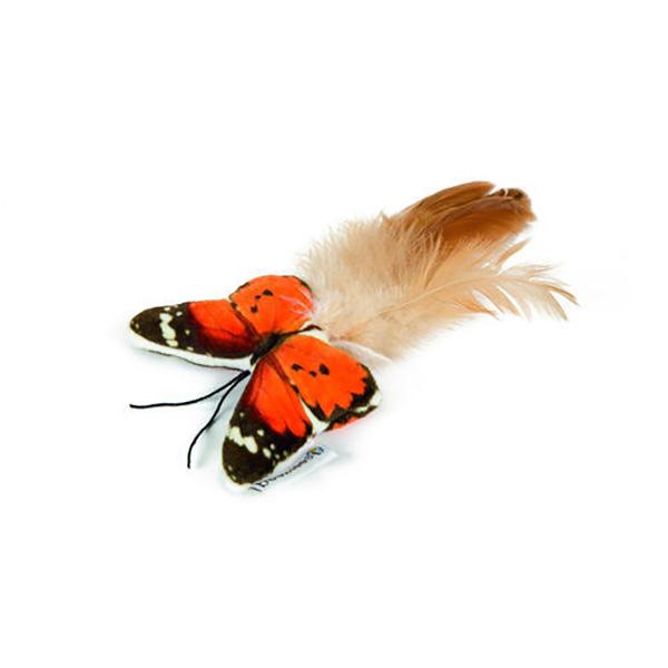 Beeztees igrača za mačke metulj s peresi Fligo - 8 cm