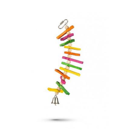 Beeztees lesena igrača za papige Tikkie - 23 cm