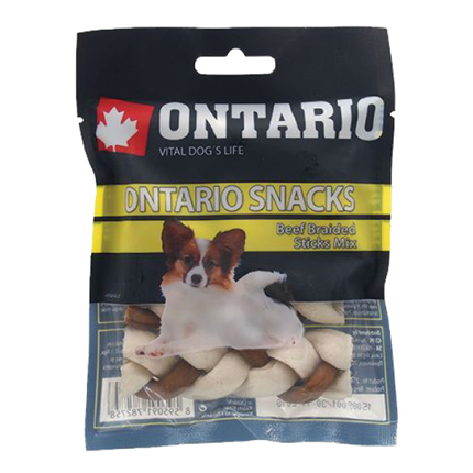 Ontario Snack pletena kita (mix) - 7,5 cm