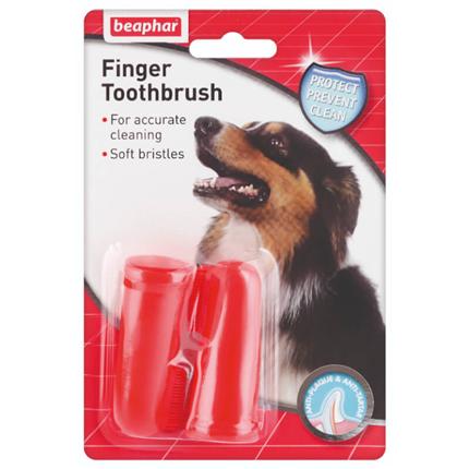 Beaphar naprstna zobna ščetka - 2 kos