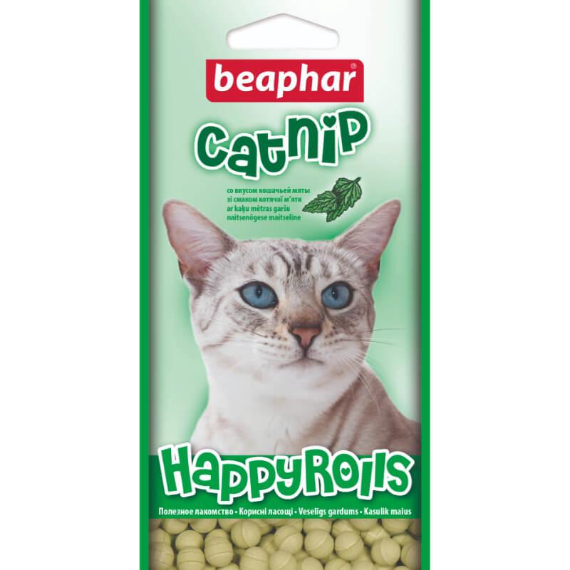 Beaphar Happy Rolls posladek z mačjo meto za mačke - 45 g