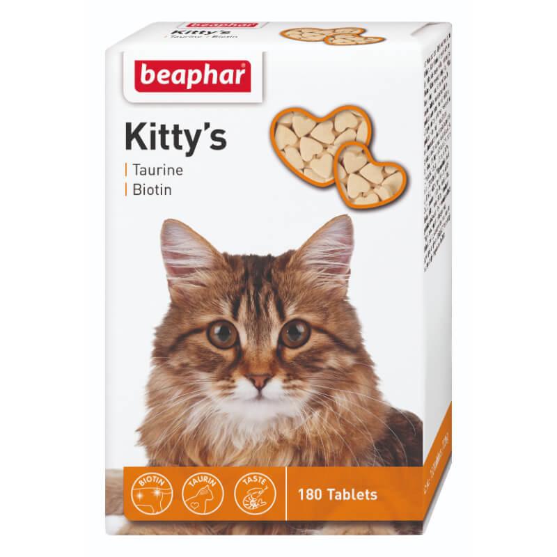 Beaphar Kitty's posladek s tavrinom in biotinom za mačke - 180 tablet