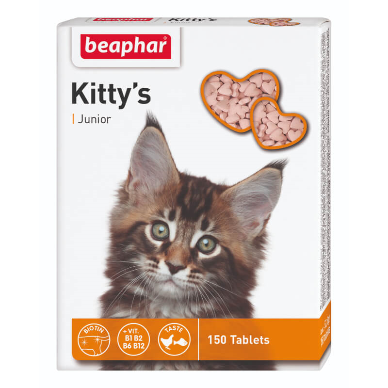Beaphar Kitty's Junior posladek za mačke - 150 tablet