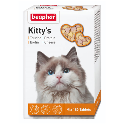 Beaphar Kitty's mix posladek za mačke - 180 tablet