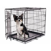 Dog Fantasy kovinski boks S, črn - 61 x 48 x 46 cm