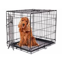 Dog Fantasy kovinski boks M, črn - 76 x 53 x 45 cm