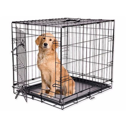 Dog Fantasy kovinski boks XXL, črn - 122 x 84 x 74 cm