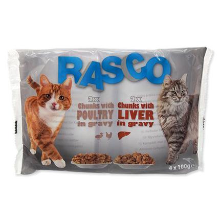 Rasco Cat Multipack - piščanec in jetra v omaki - 4 x 100 g