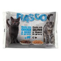 Rasco Cat Multipack - piščanec, losos, postrv govedina - 4 x 100 g