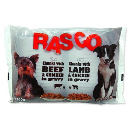 Rasco Dog Multipack - piščanec, govedina, jagnjetina - 4 x 100 g
