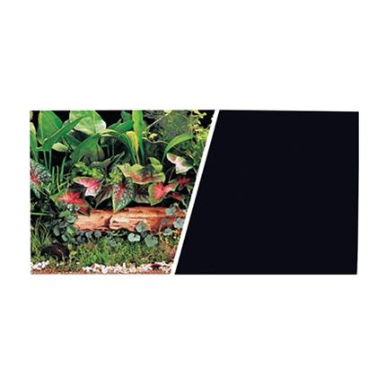 Marina ozadje za akvarij, rastlinj (črno) - 45 cm