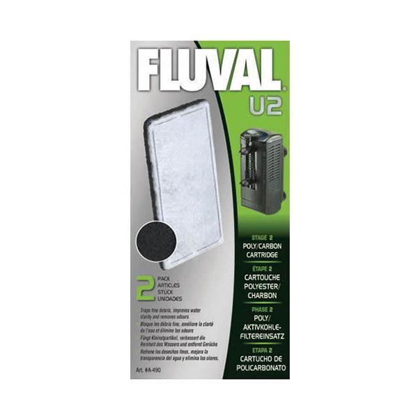 Fluval kartuša za notranji filter U2 z aktivnim ogljem in vato - 2 kos