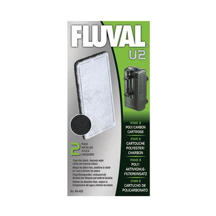 Fluval kartuša za notranji filter U3 z aktivnim ogljem in vato - 2 kos