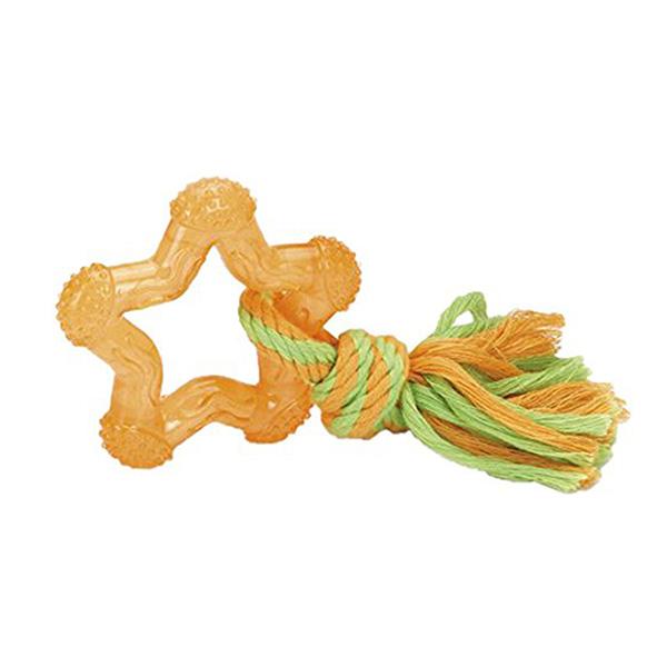 Beeztees igrača zvezda z vrvjo - 8 cm