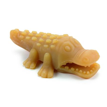 Beeztees igrača krokodil iz naravne gume - 11 x 9 x 3 cm