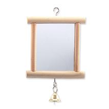 Bird Jewel igrača za ptice ogledalo, les in zvonček - 13 cm