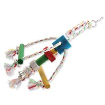 Bird Jewel igrača za ptice hobotnica, vrv in les - 29 cm
