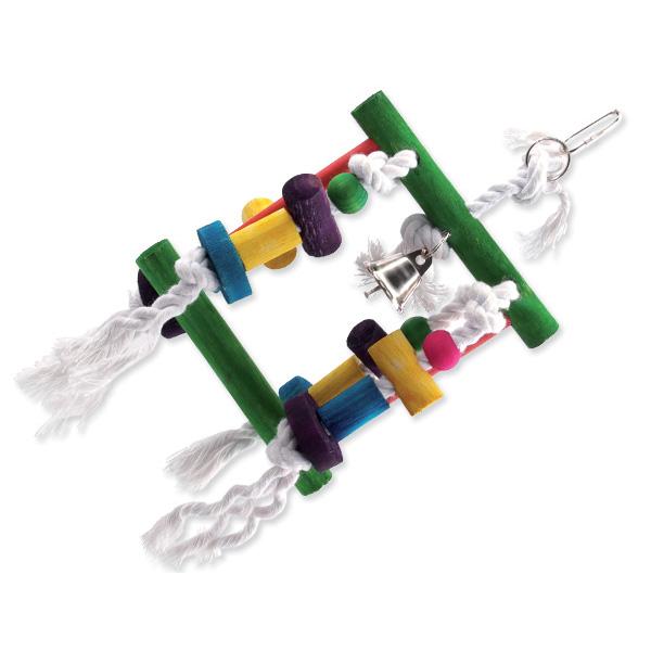 Bird Jewel igrača za ptice labirint, vrv in les - 23 cm