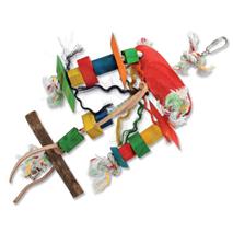 Bird Jewel igrača za ptice tripod, vrv in les - 23 cm