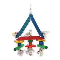 Bird Jewel igrača za ptice trikotnik, vrv in les - 36 cm