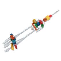Bird Jewel igrača za ptice meduza, vrv in les - 70 cm