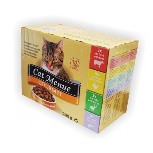 Cat Menu Gourmet - mešani okusi - 12 x 100 g
