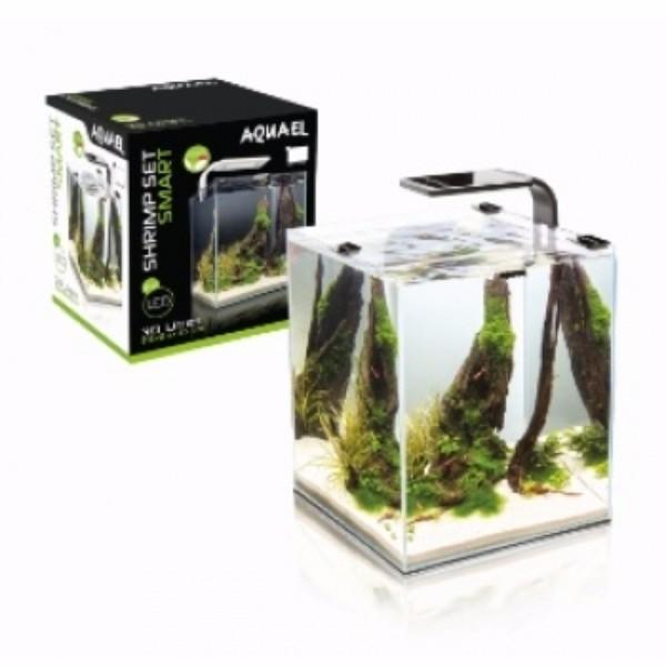 Aquael akvarij Shrimp Set Smart 2, črn - 19 l, 25x25x30 cm
