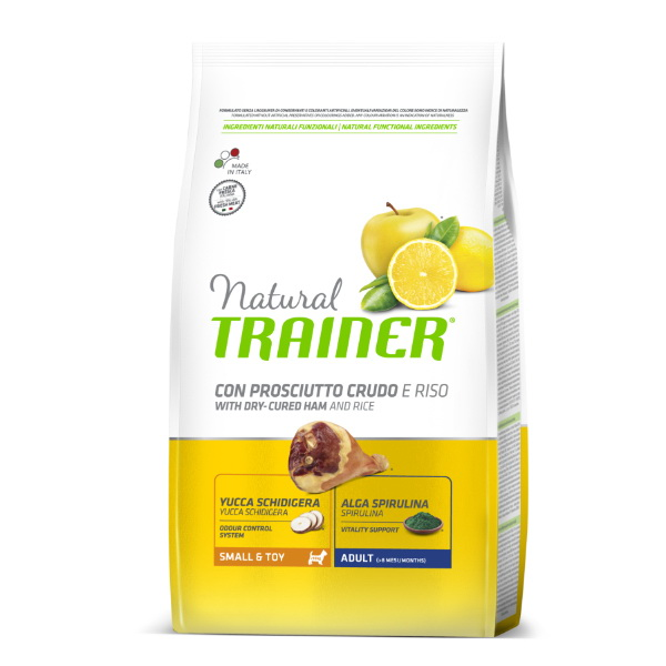 Trainer Natural Adult Small - pršut in riž 2 kg