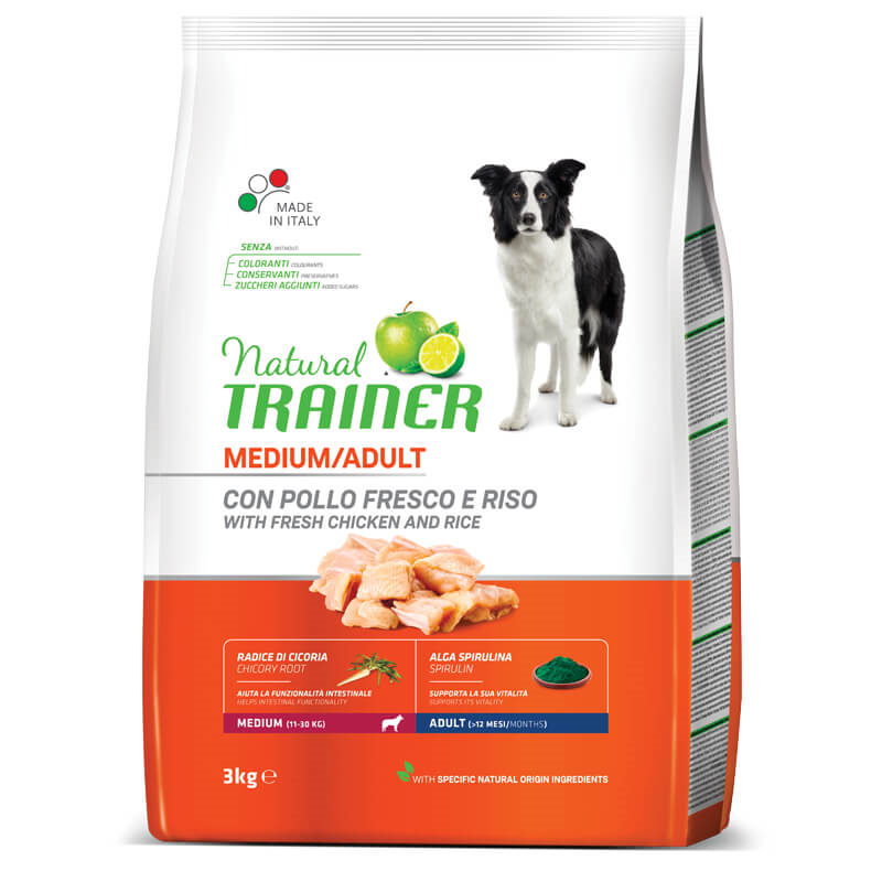 Trainer Natural Adult Medium - sveži piščanec 3 kg