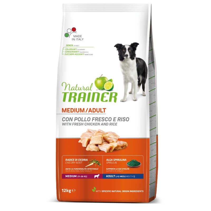 Trainer Natural Adult Medium - sveži piščanec 12 kg