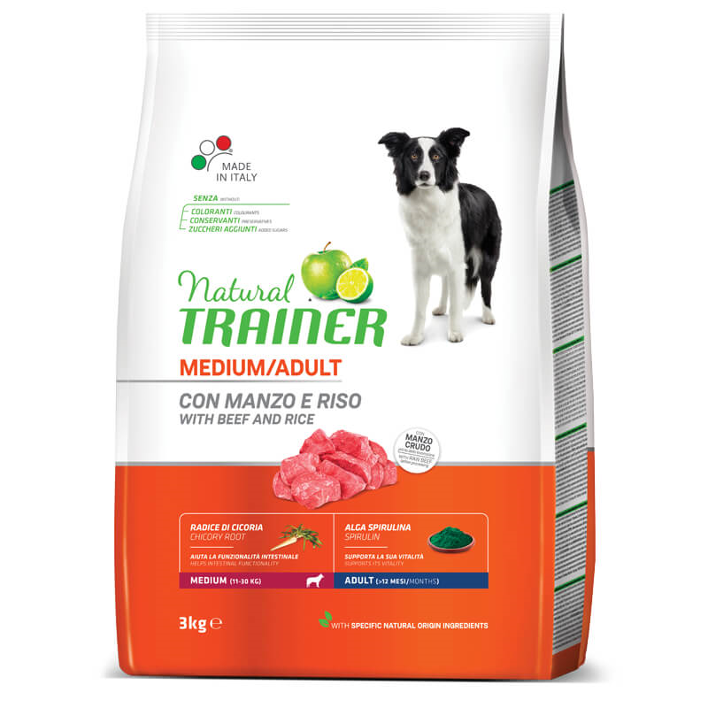 Trainer Natural Adult Medium - govedina in riž 3 kg