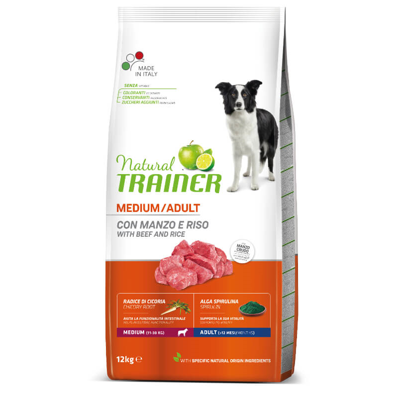 Trainer Natural Adult Medium - govedina in riž 12 kg