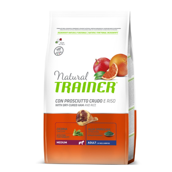 Trainer Natural Adult Medium - pršut in riž 12 kg