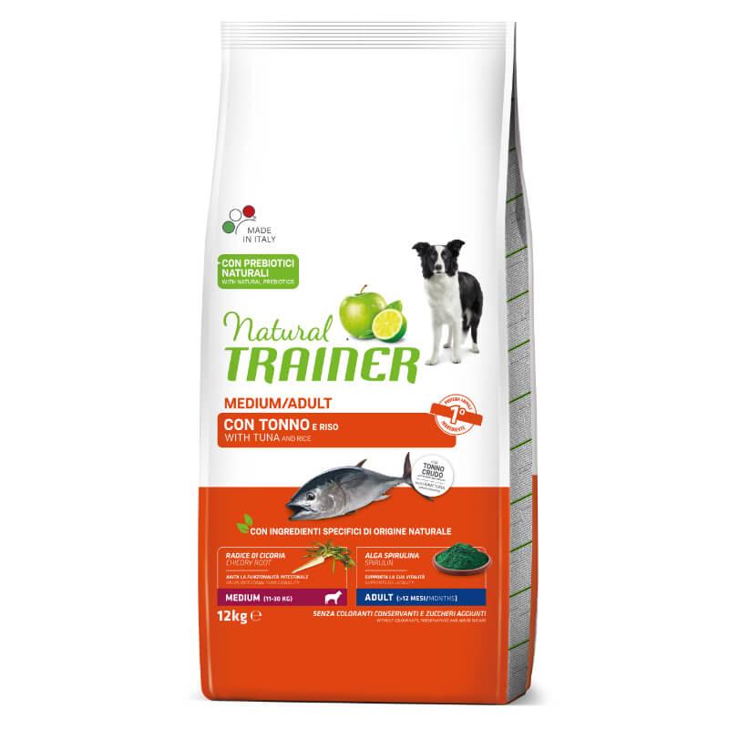 Trainer Natural Adult Medium - riba in riž 12 kg