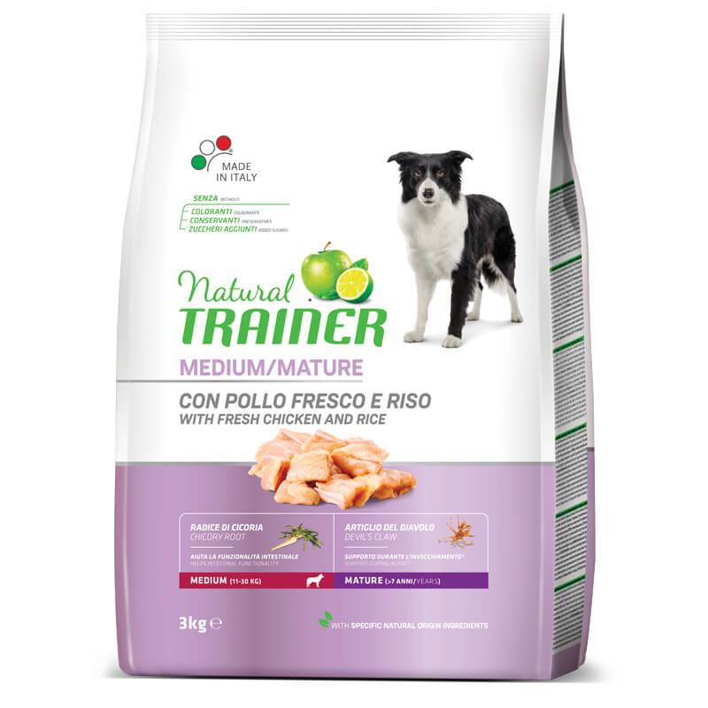 Trainer Natural Senior Medium - sveži piščanec 3 kg