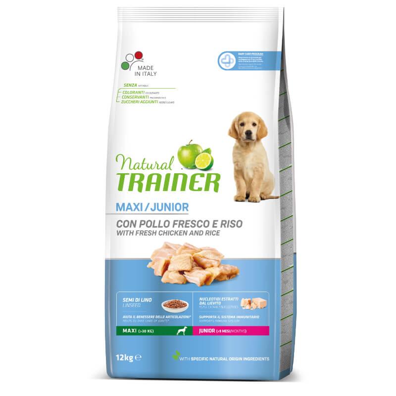 Trainer Natural Junior Maxi - sveži piščanec 12 kg