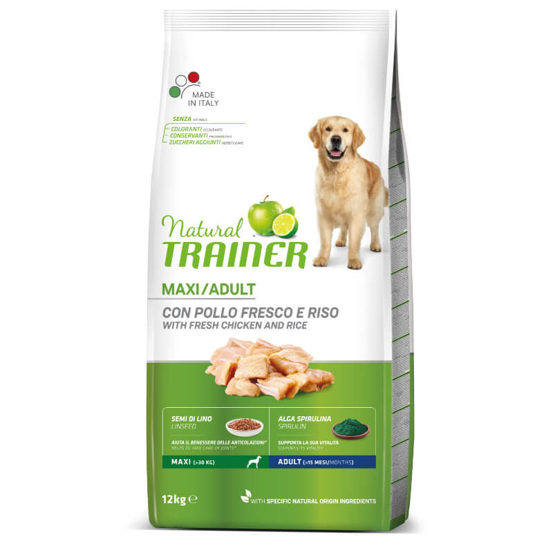 Trainer Natural Adult Maxi - sveži piščanec 12 kg