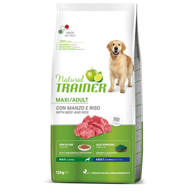 Trainer Natural Adult Maxi - govedina in riž 12 kg