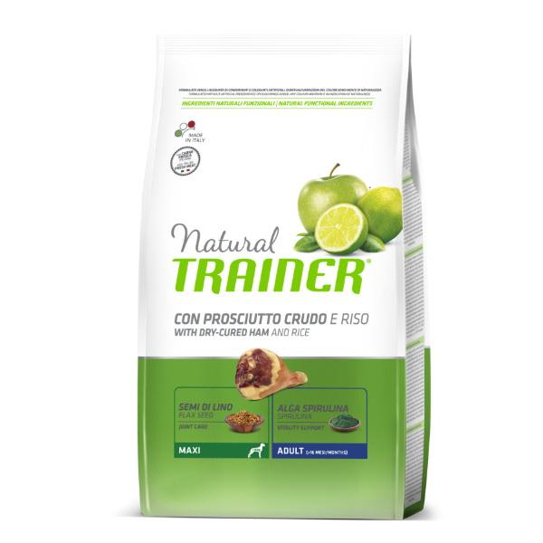 Trainer Natural Adult Maxi - pršut in riž 12 kg