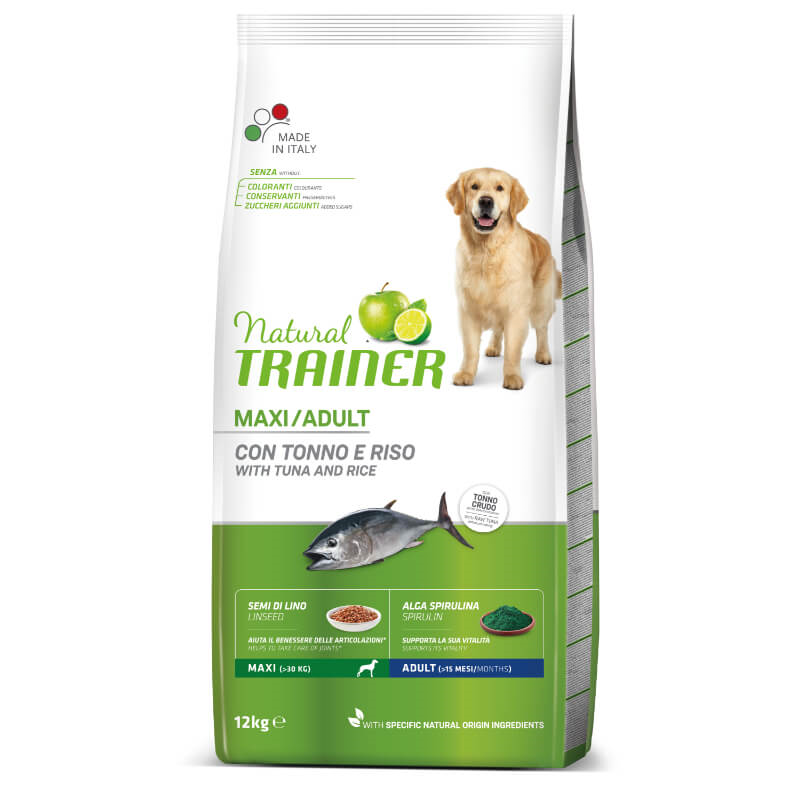Trainer Natural Adult Maxi - riba in riž 12 kg