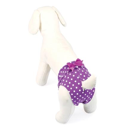 Camon hlačke za psičke, vijola pike - 30 cm, podaljšane