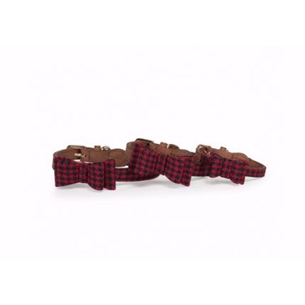 Camon ovratnica rdeča karo - 1,5x35 cm