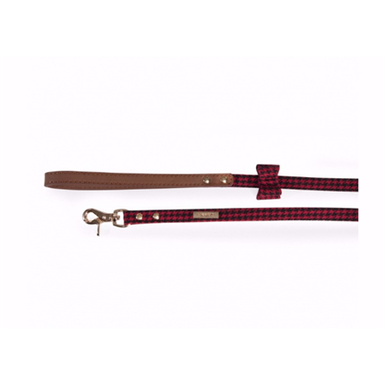 Camon povodec karo, rdeč - 1,5x120 cm