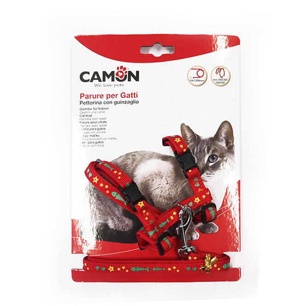 Camon oprsnica+povodec za mačke Fish