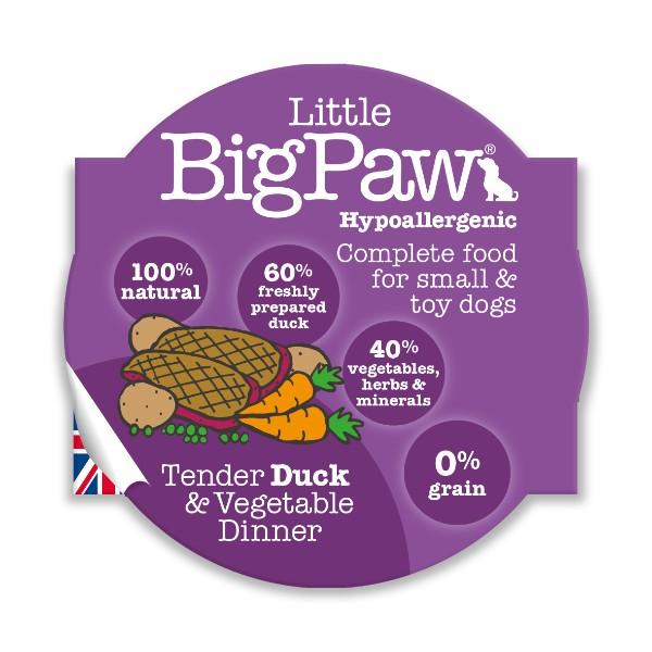 Little Big Paw alu posodica - raca in zelenjava 85 g