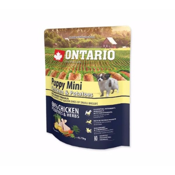 Ontario Puppy Mini - piščanec in krompir 750 g