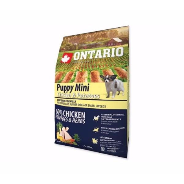 Ontario Puppy Mini - piščanec in krompir 2,25 kg