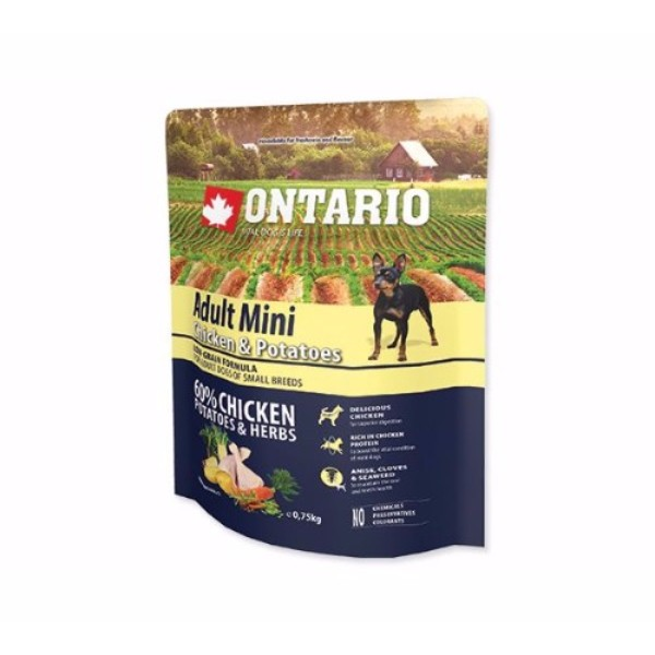 Ontario Adult Mini - piščanec in krompir 750 g